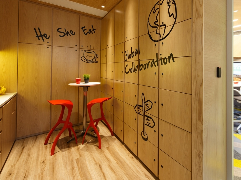 the collab quiet discussion corner and lockers