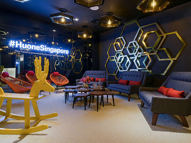 houne singapore with unique decoration hall