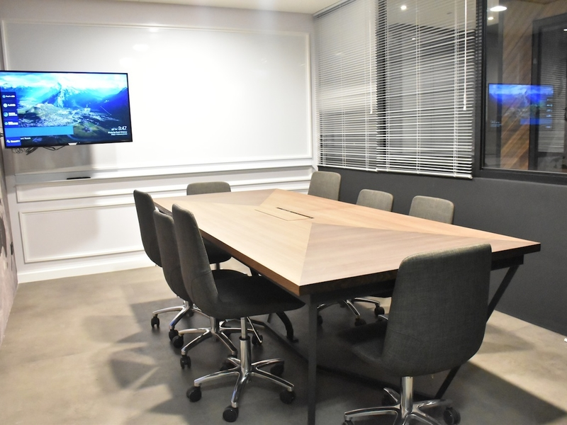 meeting space equipped with tv screen in the room