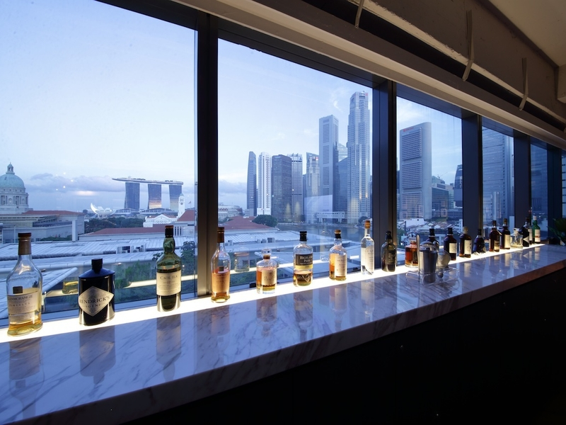 product launch event offers various options of alcohol drinks at the window