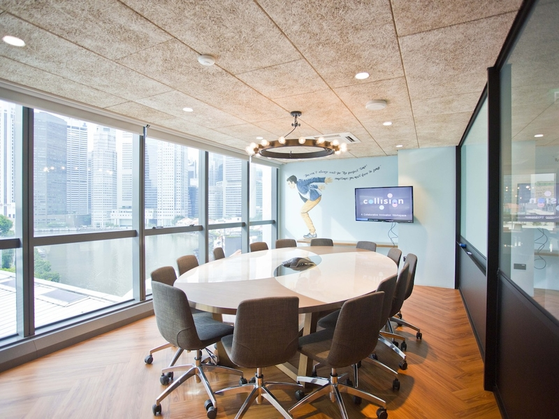 board meeting room bathed with natural light