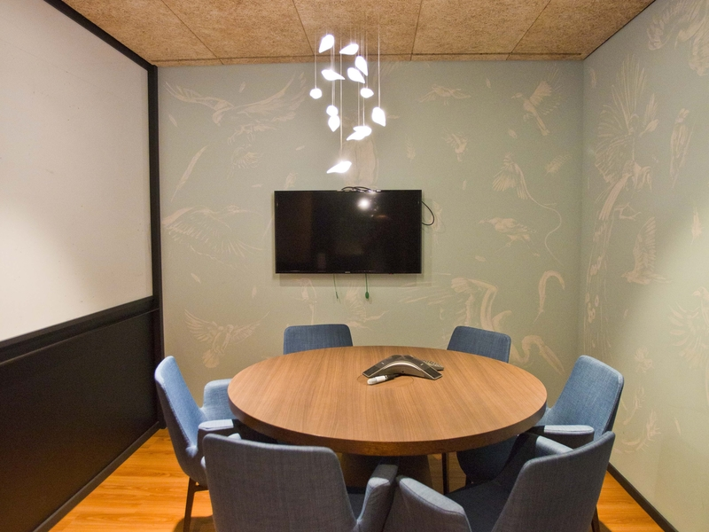 private meeting room using round table for 6 pax