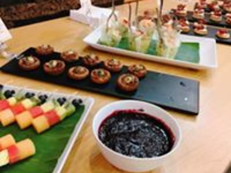the hub event venue dining options for company events