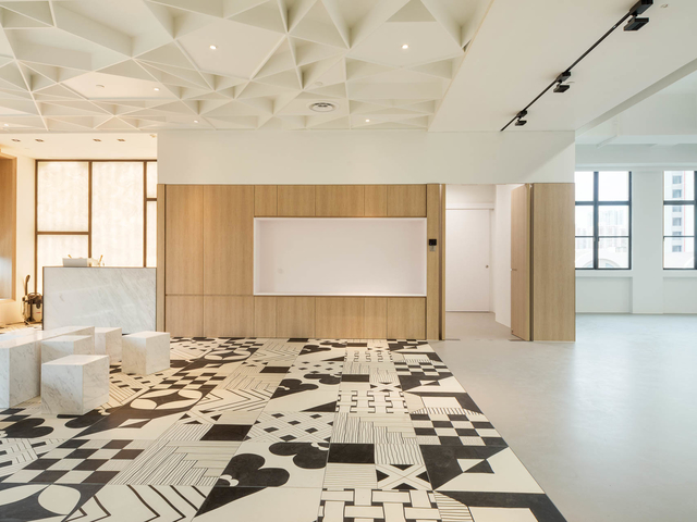 singapore large event space with a whiteboard and patterned floors