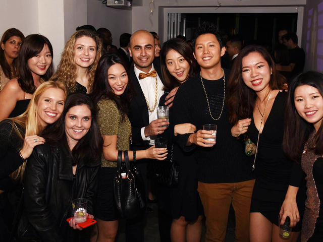 intimate party gathering in soho yard gallery