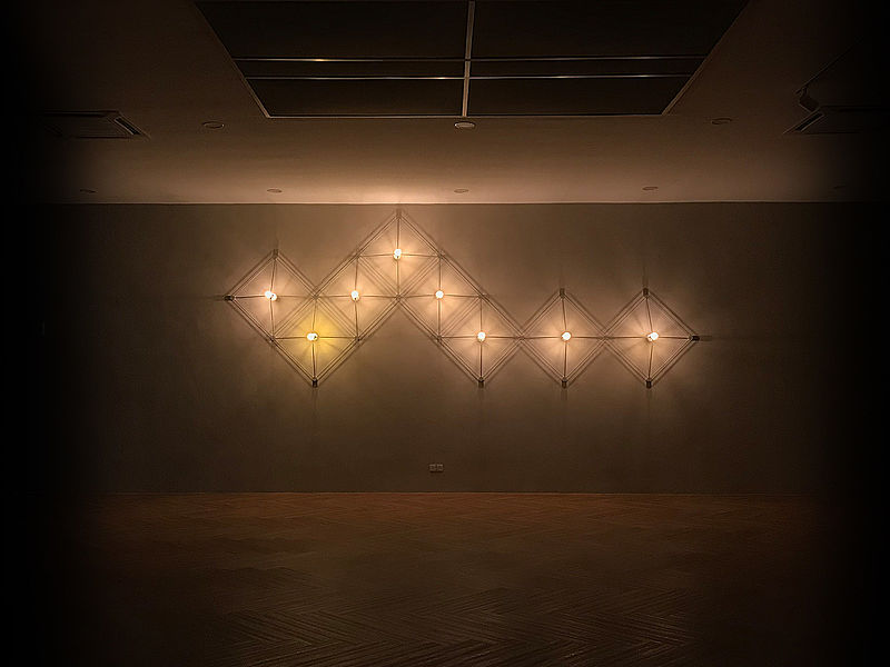 minimalist lighting decoration on the wall