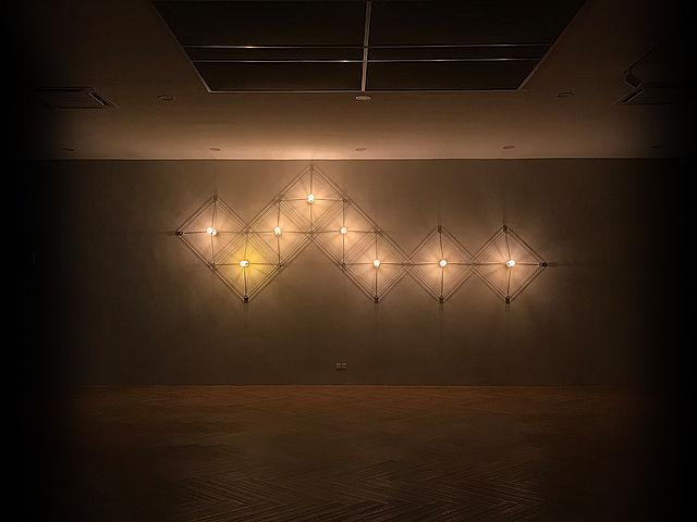 minimalist lighting decoration on the wall