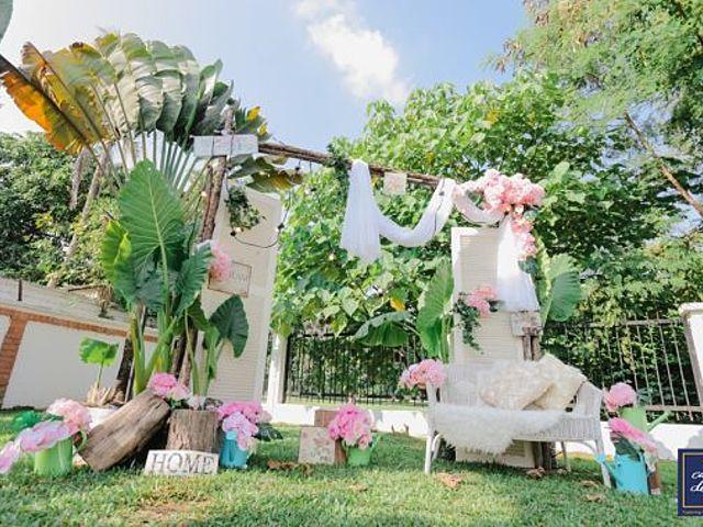 garden theme solemnisation venue at outdoor area