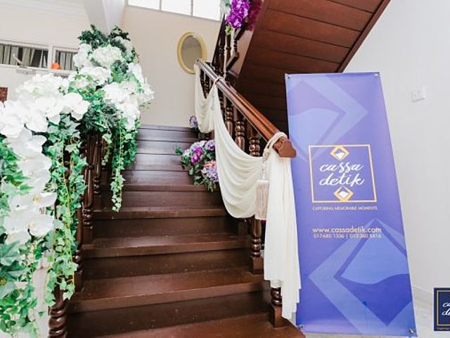 stairs to the wedding event space