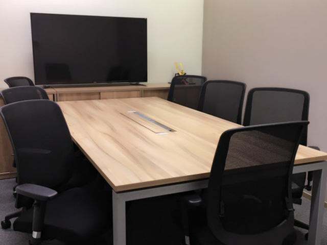 private meeting room for brainstorming equipped with tv screen
