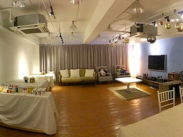 multifunctional event space area equipped with audio visual and entertainment facilities