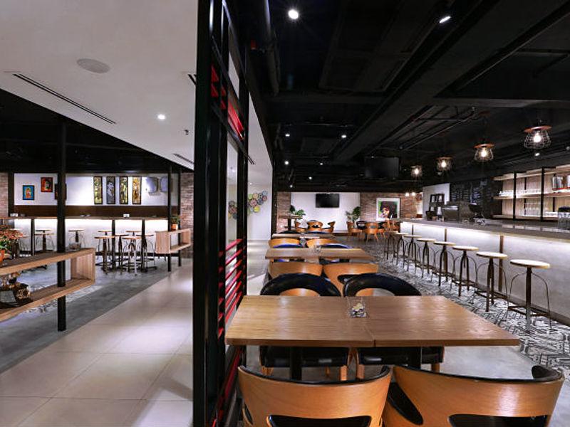 bar with modern and stylish interior