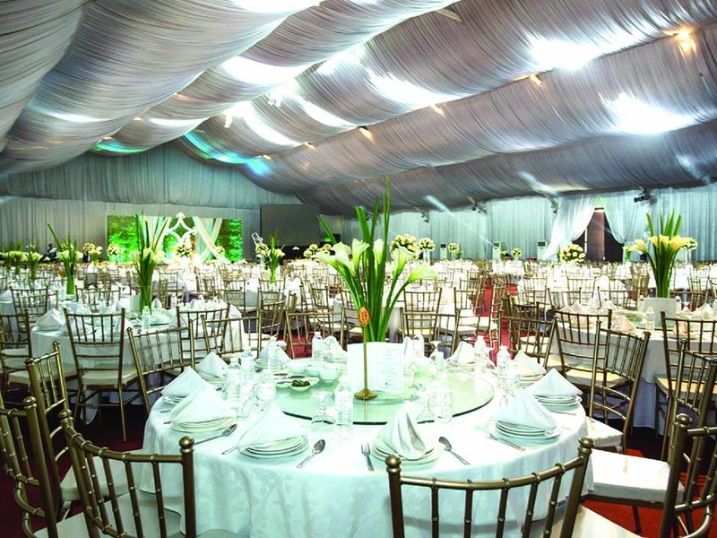 private event with banquet style setup