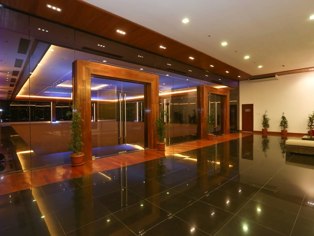 the foyer area of the function room
