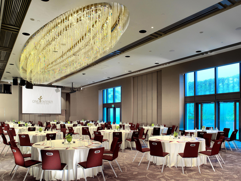 private room for dining event with big windows for natural light
