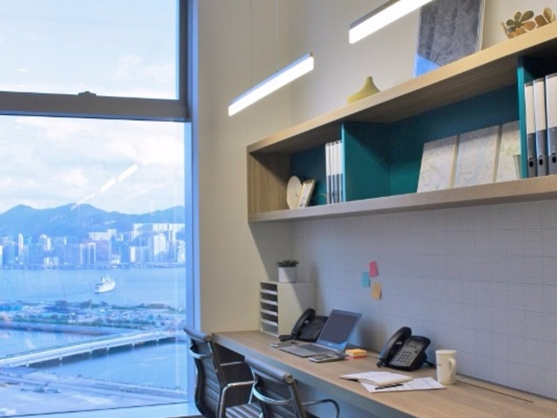 private office with harbour view