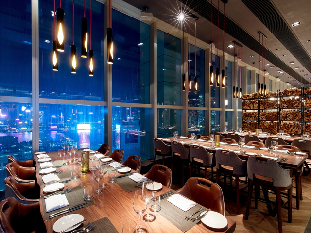 dining spot with hong kong city view