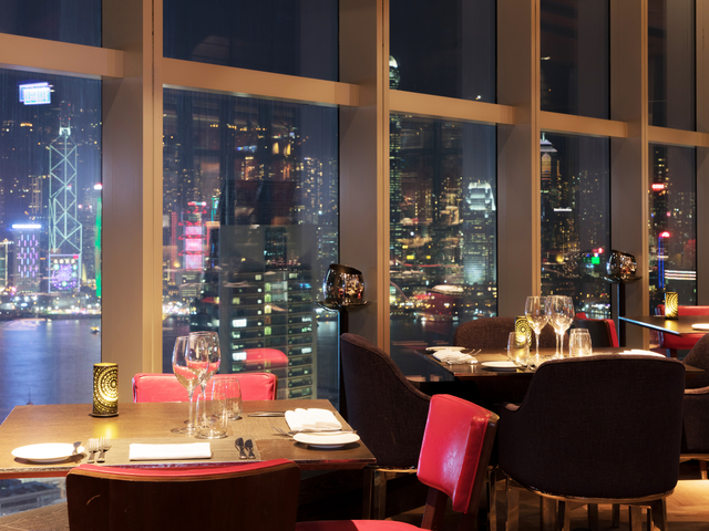hong kong city view from the dining area