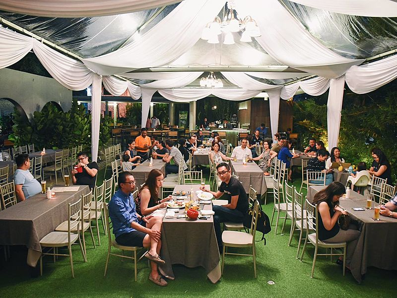 outdoor area for private dinner event