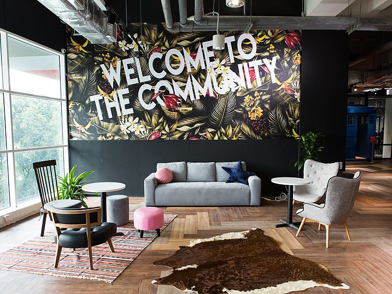 WORQ coworking space glo cozy team discussion venue