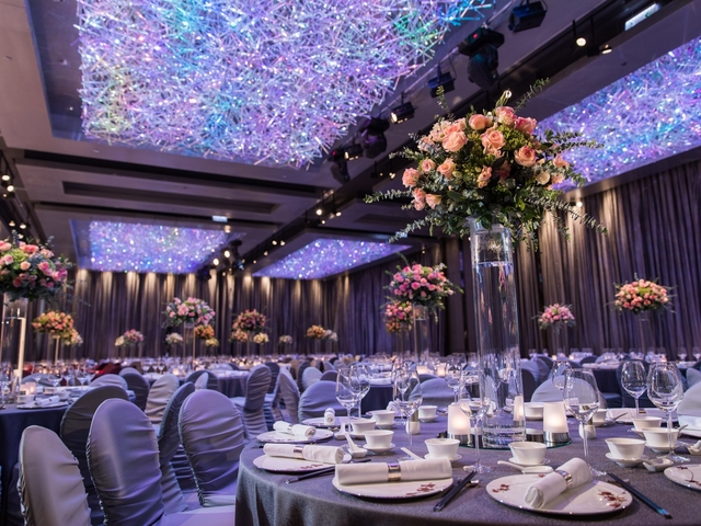 corporate event using round table seating style