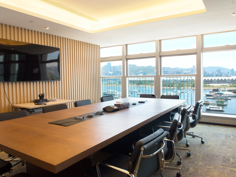 private meeting room equipped with audio visual facilities