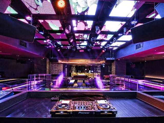 large exclusive club malaysia with led screen on the ceiling