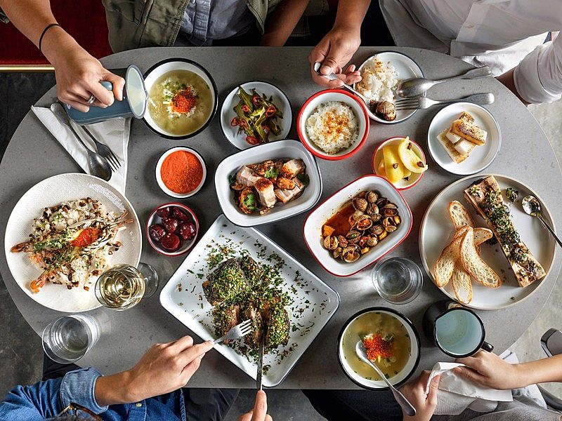 modern asian comfort food on the tables