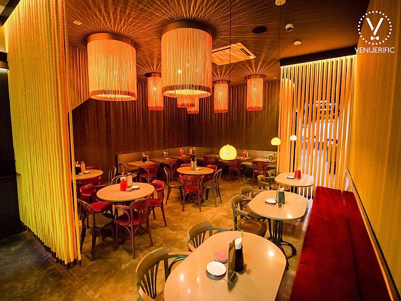 mixed and fresh industrial tibetanesque restaurant decor at jalan besar