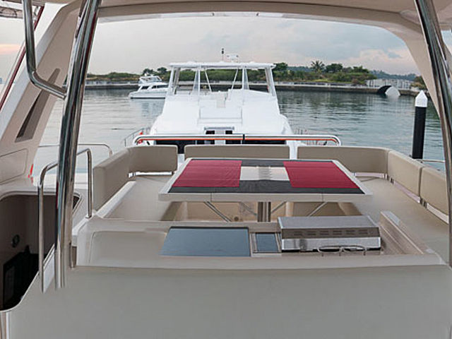 the main deck with extended spaces and panoramic views