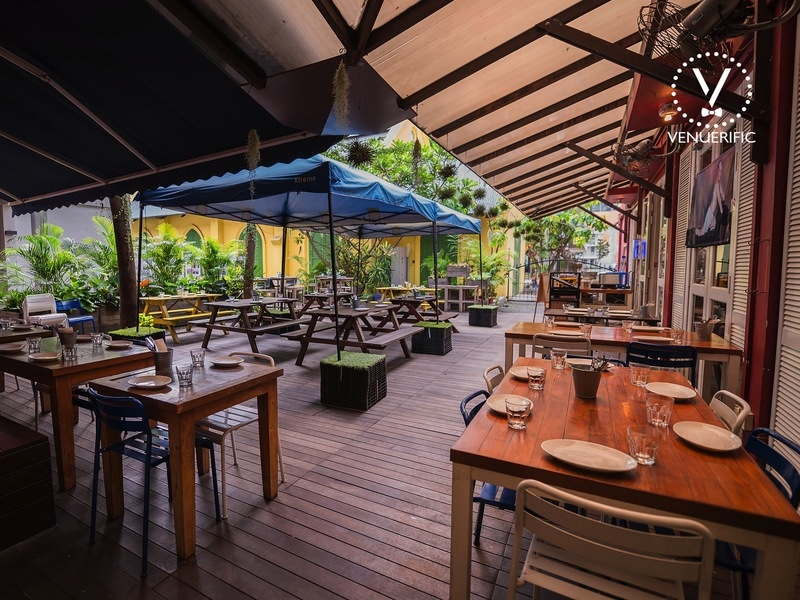 outdoor spot with alfresco for reunion luncheon