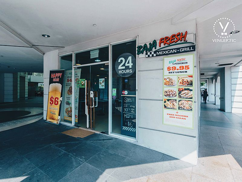 exterior look of baja fresh mexican grill