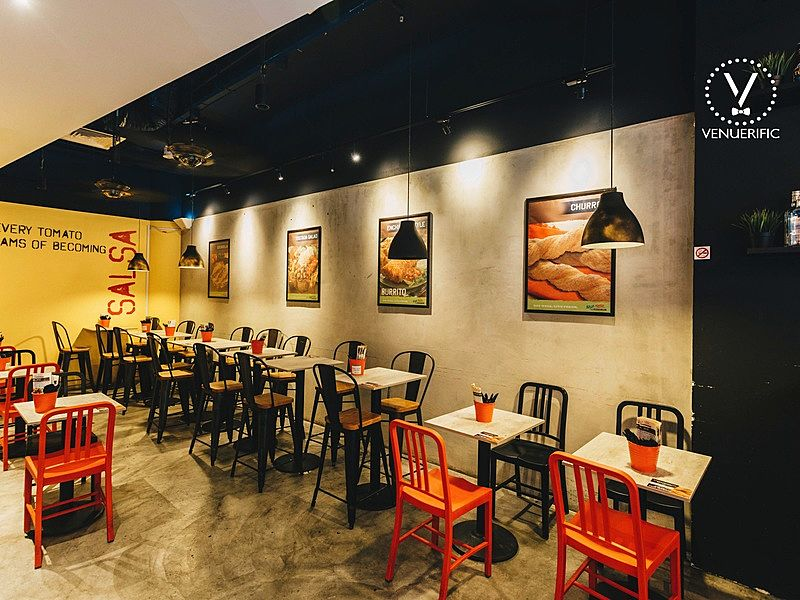 restaurant area for team bonding activities