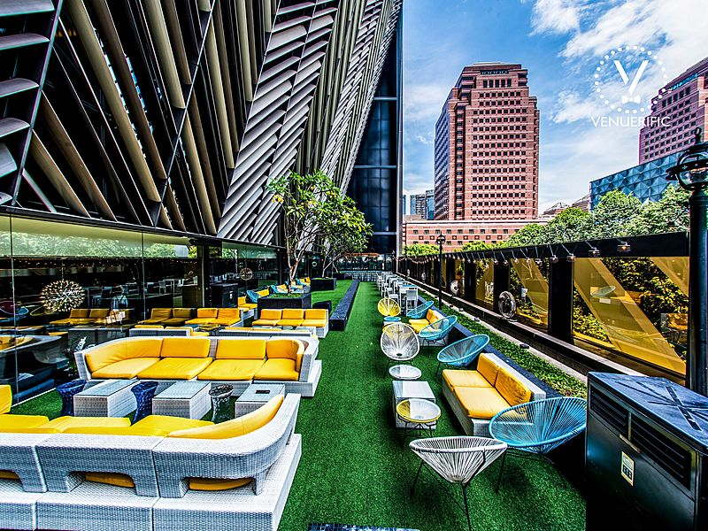 rooftop pool bar with city view by grand park orchard