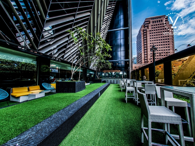 networking event venue at grand park orchard's rooftop