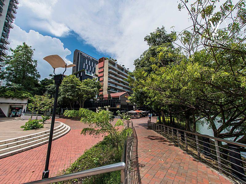 green environment around m social singapore and beast butterflies