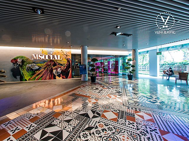 art and design of the lobby of m social singapore