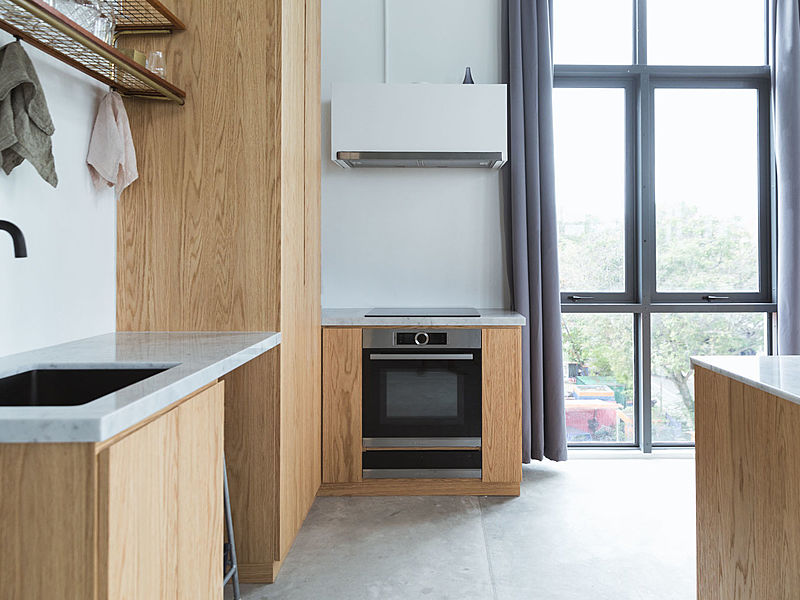 the closer look of the kitchen that provide stove