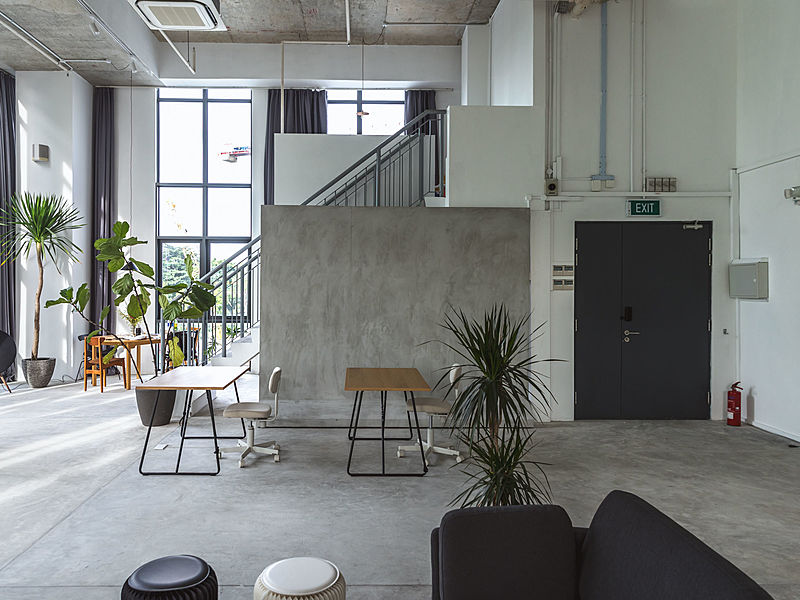 minimalistic studio for event by chun tsubaki