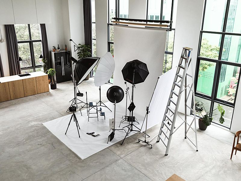 event venue with photoshoot area