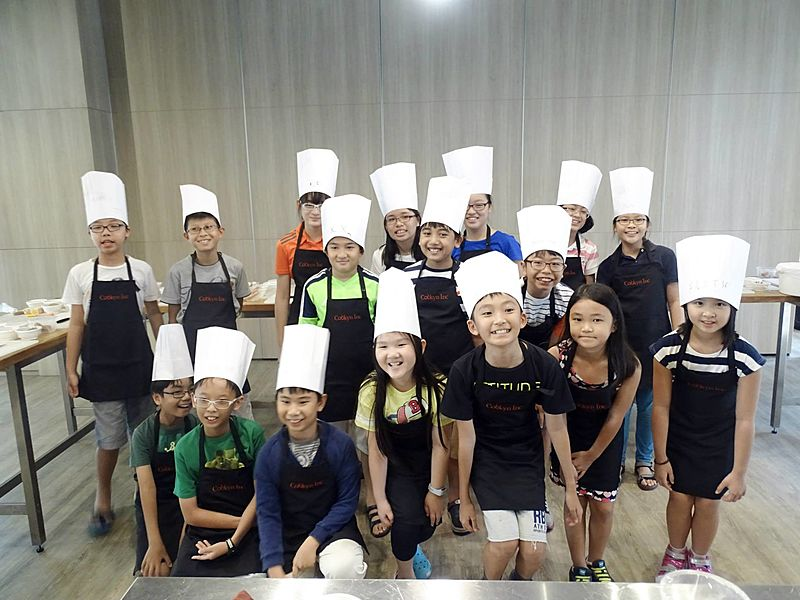 kids after their cooking and baking workshop