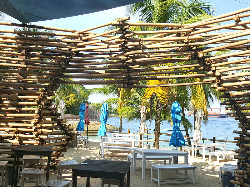 outdoor beach venue with the view of siloso shoreline