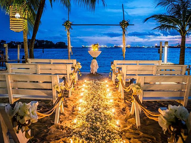 private outdoor intimate wedding venue at sunset