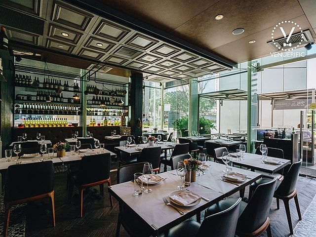 restaurant with lot of choices of wine and alcohol drinks