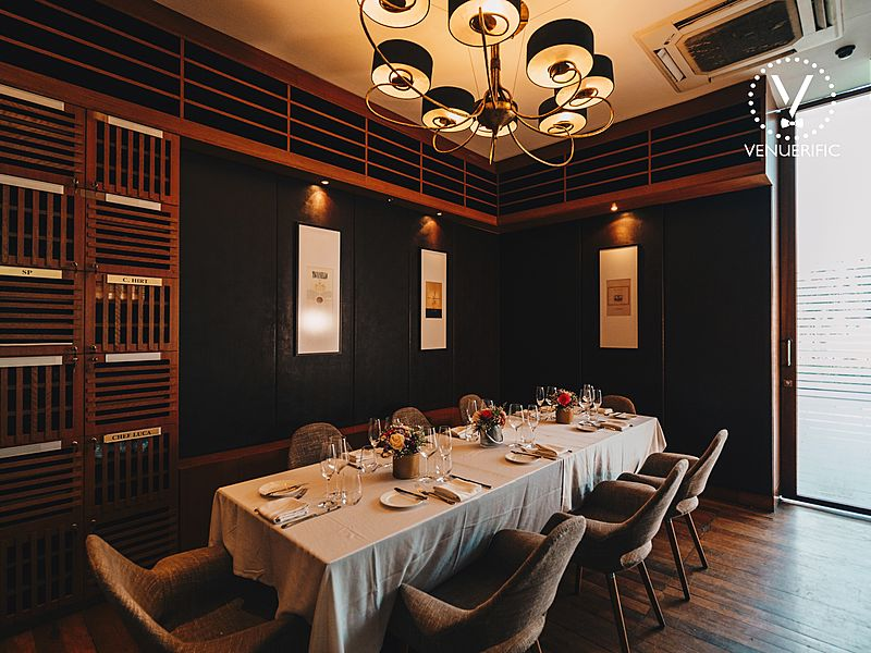 private dining room for corporate meeting