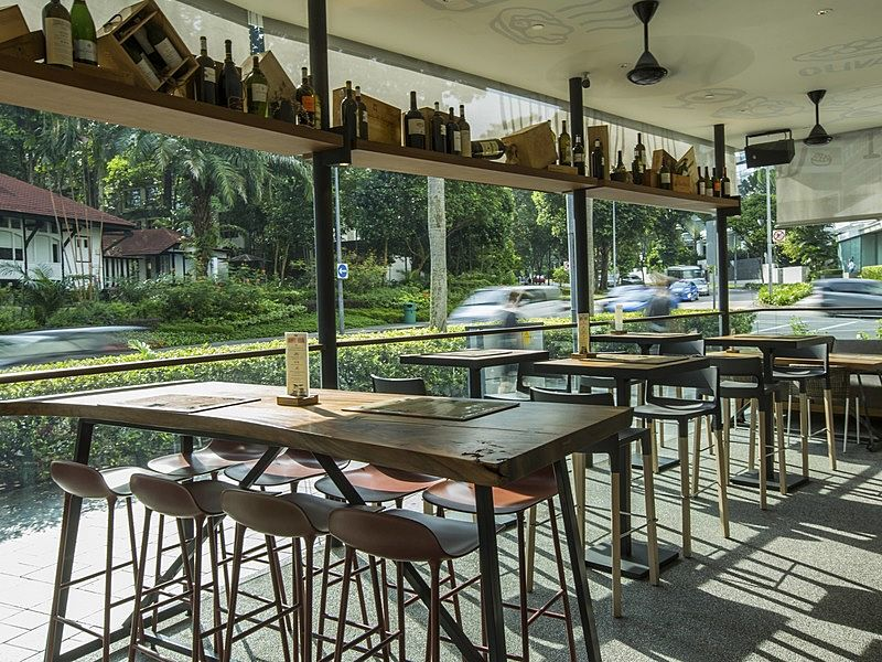 outdoor terrace area by spain bar and restaurant at orchard road