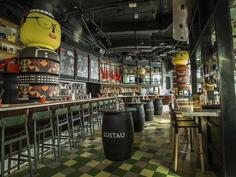 tapas bar and restaurant with a distinct barcelona flair