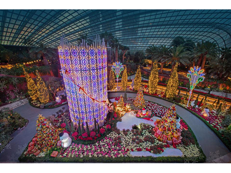 one of the two cooled indoor conservatories of gardens by the bay
