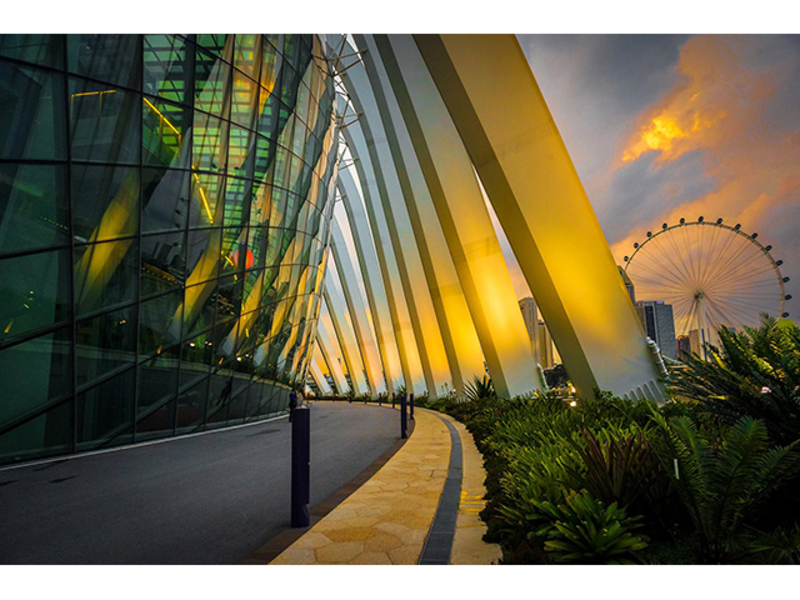 susnet view from bay east garden singapore