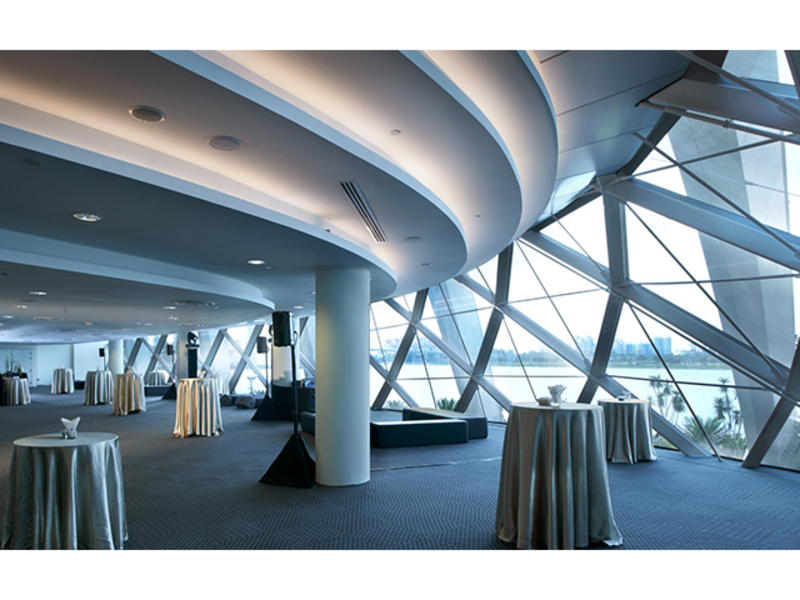 waterview room offers a versatile setting for events with superb views of bay east garden